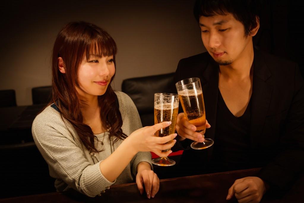 好きな人と乾杯